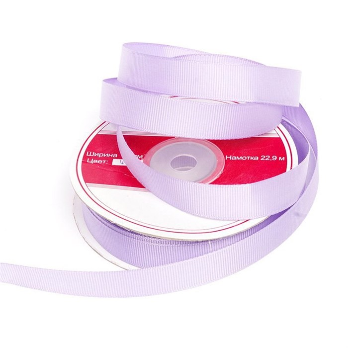 Лента репсовая шир.15мм цв.430 бл.фиолетовый IDEAL уп. 22,85м - фото 169621