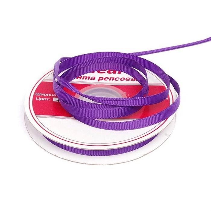 Лента репсовая шир. 6мм цв.465 яр.фиолетовый IDEAL уп.22,85м - фото 169799