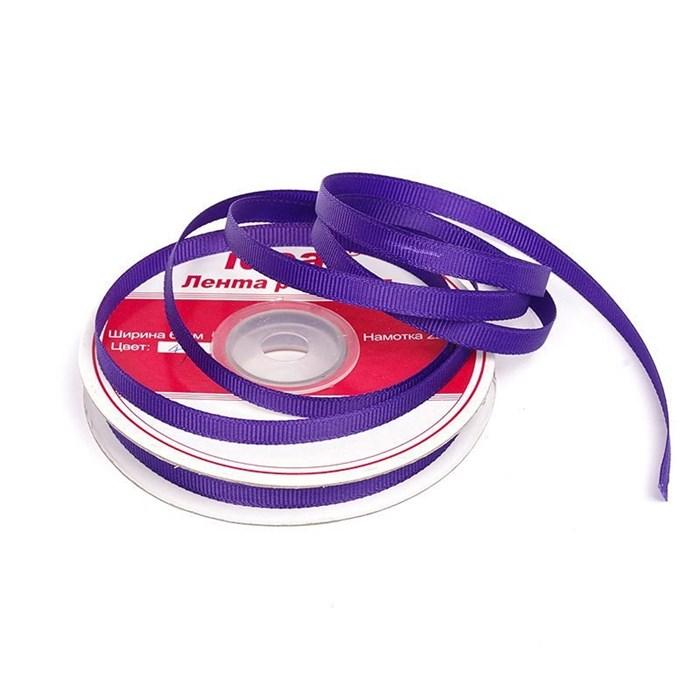 Лента репсовая шир. 6мм цв.470 т.фиолетовый IDEAL уп.22,85м - фото 169800