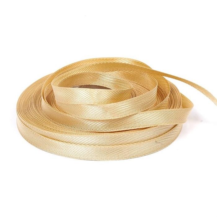 Лента для вешалок арт.2642 цв. 6 золото фас.25м - фото 172995