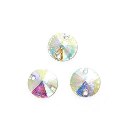 Стразы пришивные акриловые (Resin) Tesoro Crystal арт.TS.ED1.1.10 цв.AB Crystal 10 мм уп.20шт - фото 181609
