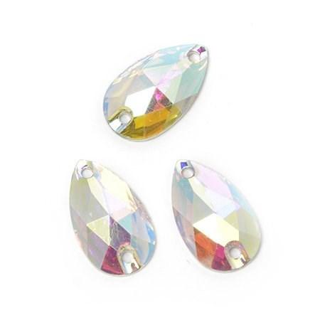 Стразы пришивные акриловые (Resin) Tesoro Crystal арт.TS.ED2.2.10 цв.AB Crystal 10*18 мм уп.10 шт - фото 181933
