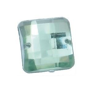Стразы  пришивные пластик арт.ТВK.EF 12*12 квадрат цв.3 салатовый фас.50шт. - фото 190248