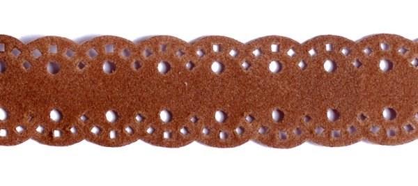 Тесьма велюр  арт.ТВ-D1  шир.18мм  цв.15 коричневый - фото 191092