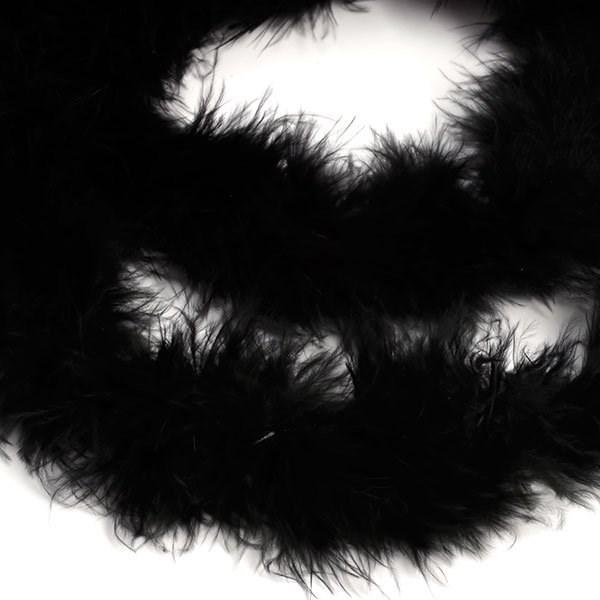 Боа - пух арт.FBY-18-100 уп.15+-3гр цв.черный уп.2м - фото 193142