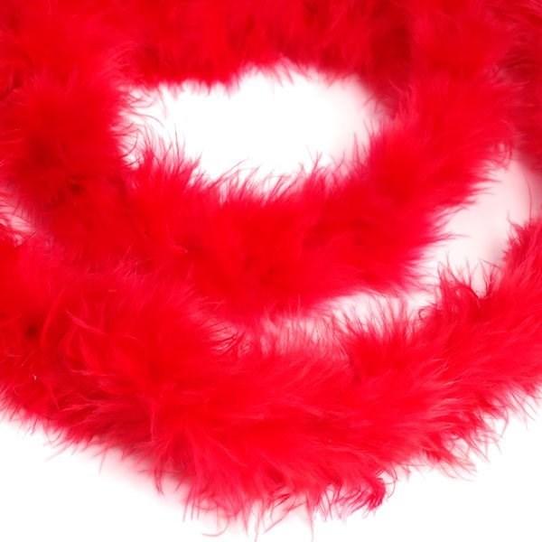 Боа - пух  арт.FBY-18-32 уп.15+-3гр цв.красный уп.2м - фото 194050