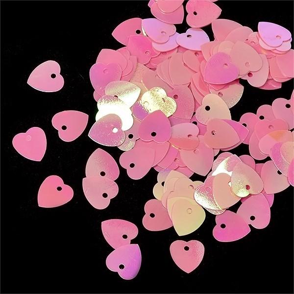 Пайетки россыпью Ideal  арт.ТВY-FLK297  10мм  цв.029 розовый уп.50гр - фото 194537
