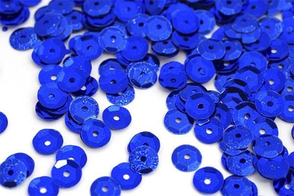 Пайетки россыпью Ideal  арт.ТВY-FLK032  8мм  цв.05 синий уп.50гр - фото 195562