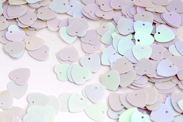 Пайетки россыпью Ideal  арт.ТВY-FLK297  10мм  цв.099 белый уп.50гр - фото 197639