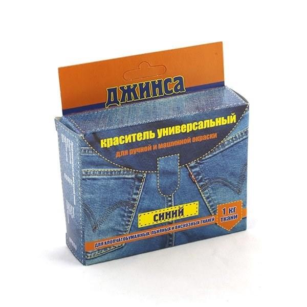 Краситель для ткани ДЖИНСА NEW цв. синий уп. 20г - фото 198283