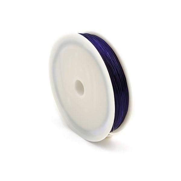 Нить силиконовая  арт.ТВ 0215-1012   0,6мм  цв.3162 голубой  рул.30м - фото 198665