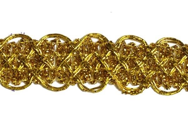 Тесьма отделочная  арт.8099  шир. 20 мм  цв. золото  уп.18,28м - фото 198720