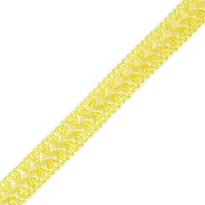 Тесьма самоса арт.ШМ.06-А шир.20мм цв. лимонный  А - фото 200492