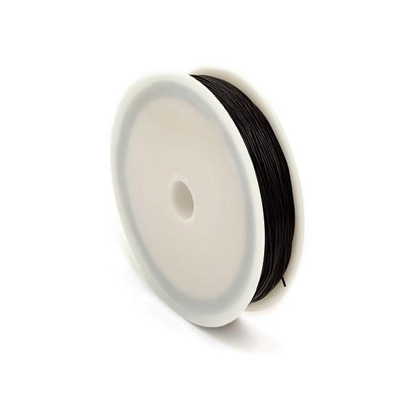 Нить силиконовая  арт.ТВ 0215-1012   0,6мм  цв.черный  рул.30м - фото 203941