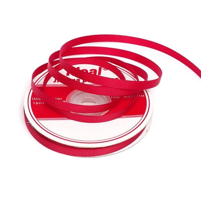 Лента репсовая шир. 6мм цв.250 (5051) красный IDEAL уп.22,85м - фото 204341