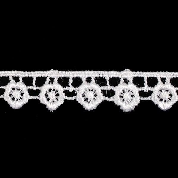 Кружево гипюр арт. КМС-1049 шир.15мм цв.белый уп.13.71м - фото 207577