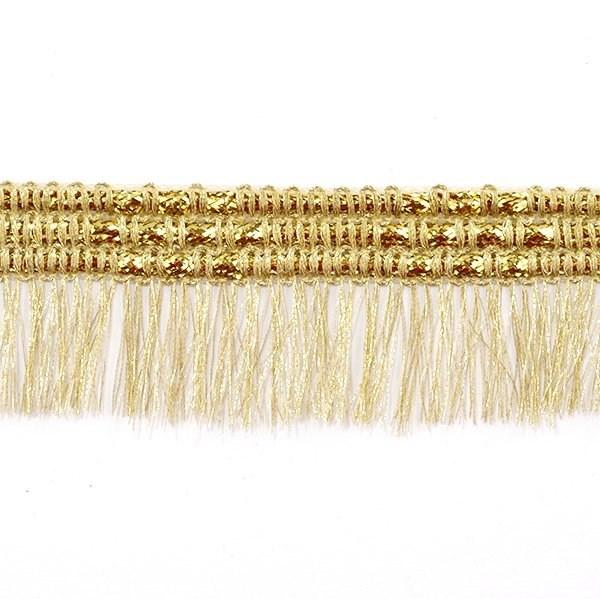 Тесьма-бахрома  арт.TBY-008/6961  шир.40 мм цв. золото  уп.13.71м - фото 208020