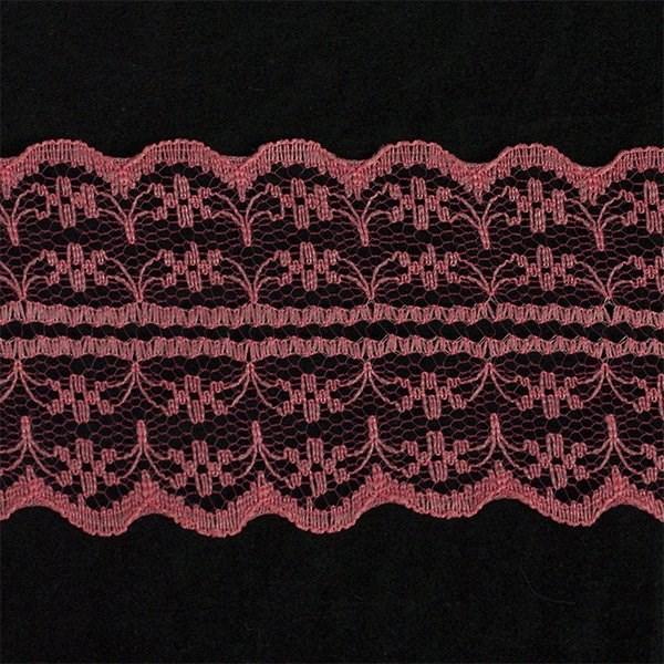 Кружево-трикотаж арт.TBY-133-2A шир.45мм цв.св.красный уп.45,7м - фото 208314