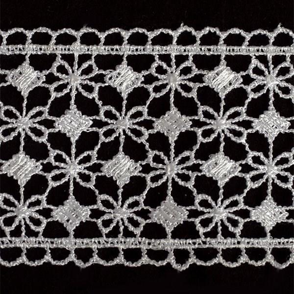 Кружево гипюр арт.TBY-KB- 9 шир.65мм цв.белый уп.13.71м - фото 208753