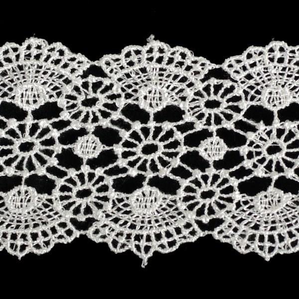 Кружево гипюр арт.TBY-YS02 шир.50мм цв.белый уп.13.71м - фото 208756