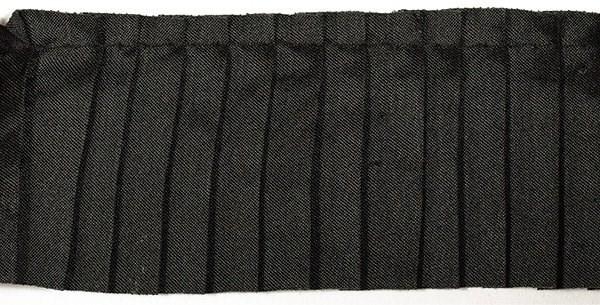 Тесьма  'рюш' арт.TBY CS- 8 / 1-стор.  шир.50мм  цв.черный  уп.13.71м - фото 210181