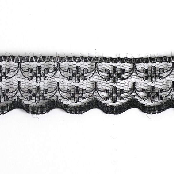 Кружево-трикотаж арт.TBY-133-1A шир.20мм цв.черный уп.45,7м - фото 211171