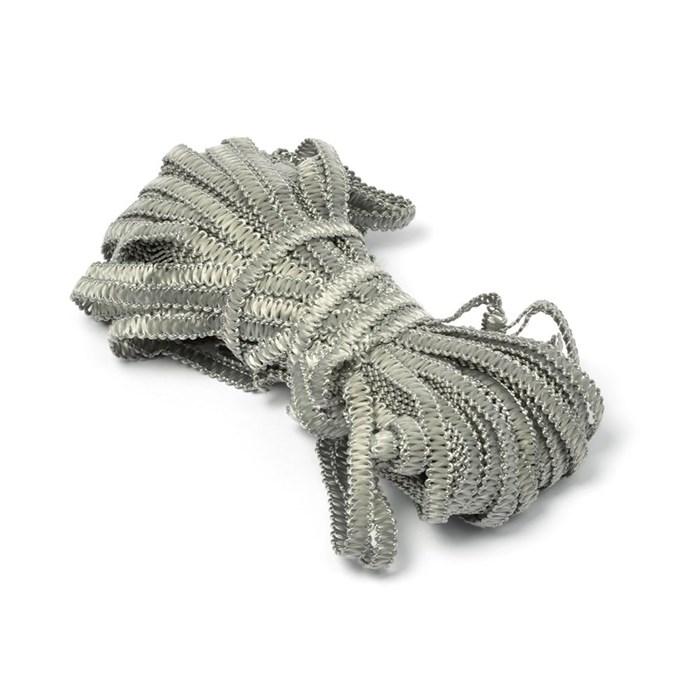 Тесьма вязаная отделочная 'Змейка' арт.с3702г17 шир.7мм рис.9166 цв.13 серый - фото 211842