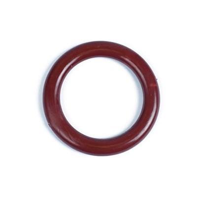 Кольцо пластик D=34  цв.кр.коричневый уп. 50 шт. А - фото 218571