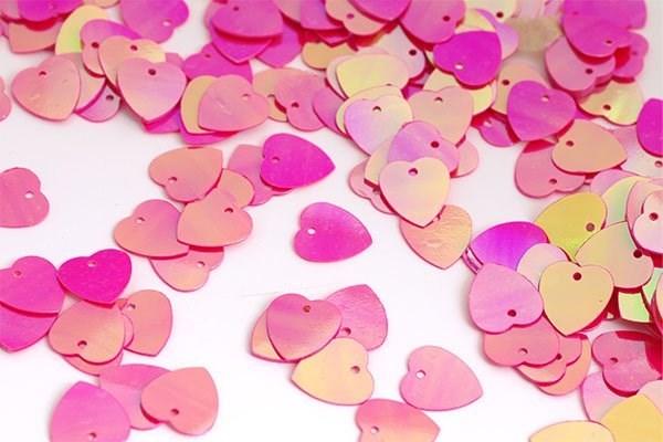 Пайетки россыпью Ideal  арт.ТВY-FLK297  10мм  цв.028 яр.розовый уп.50гр - фото 220714