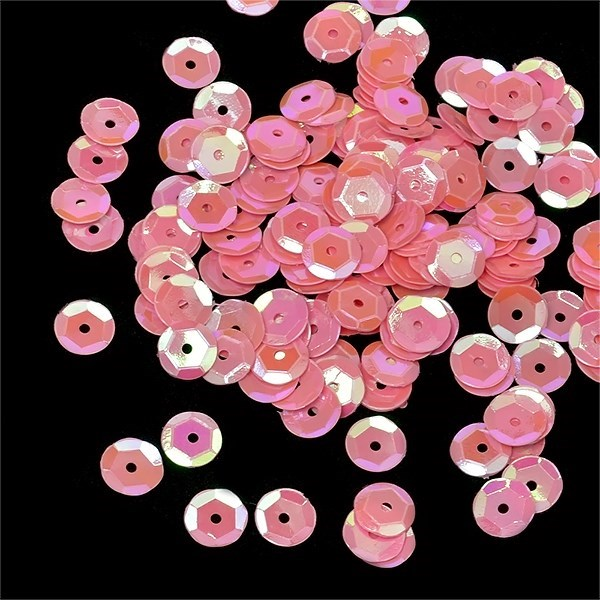 Пайетки россыпью Ideal  арт.ТВY-FLK032  8мм  цв.29 розовый уп.50гр - фото 221462