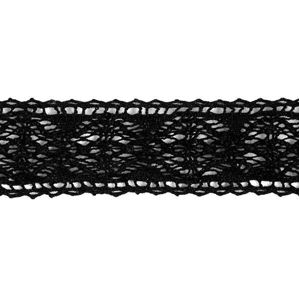 Тесьма вязаная хлопок арт.TBHA.944 шир.20мм цв.черный уп.45,7м - фото 222592
