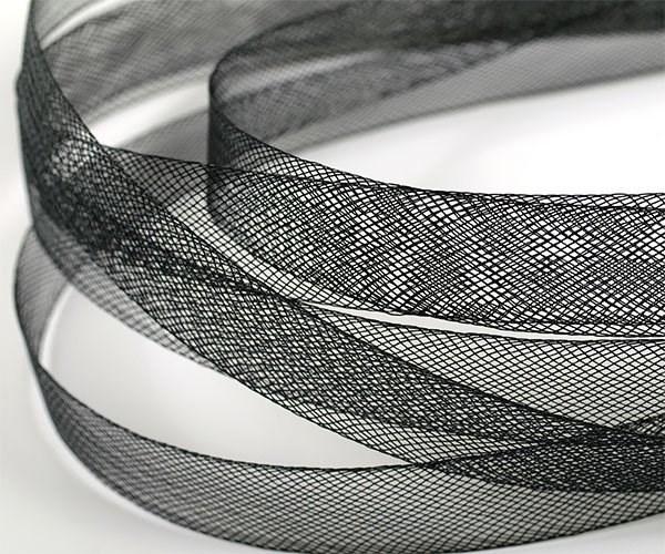 Регилин мягкий  арт. MF-15 шир.15мм  цв.черный ( рул. 23м ) - фото 224949