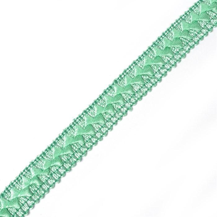 Тесьма самоса арт.ШМ.31-А шир.20мм цв. зеленая бирюза  А - фото 240755