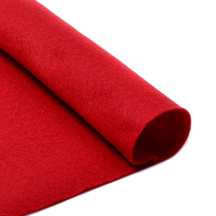Фетр листовой мягкий IDEAL 1мм 20х30см арт.FLT-S1 уп.10 листов цв.607 т.красный - фото 243959