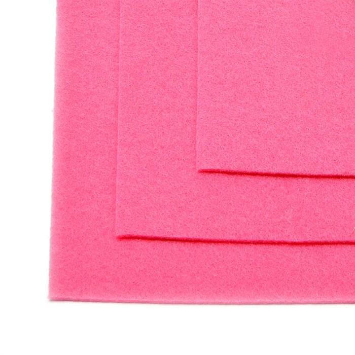 Фетр листовой жесткий IDEAL 1мм 20х30см арт.FLT-H1 уп.10 листов цв.614 розовый - фото 243965