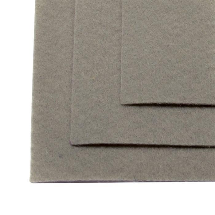 Фетр листовой жесткий IDEAL 1мм 20х30см арт.FLT-H1 уп.10 листов цв.648 серый - фото 243971