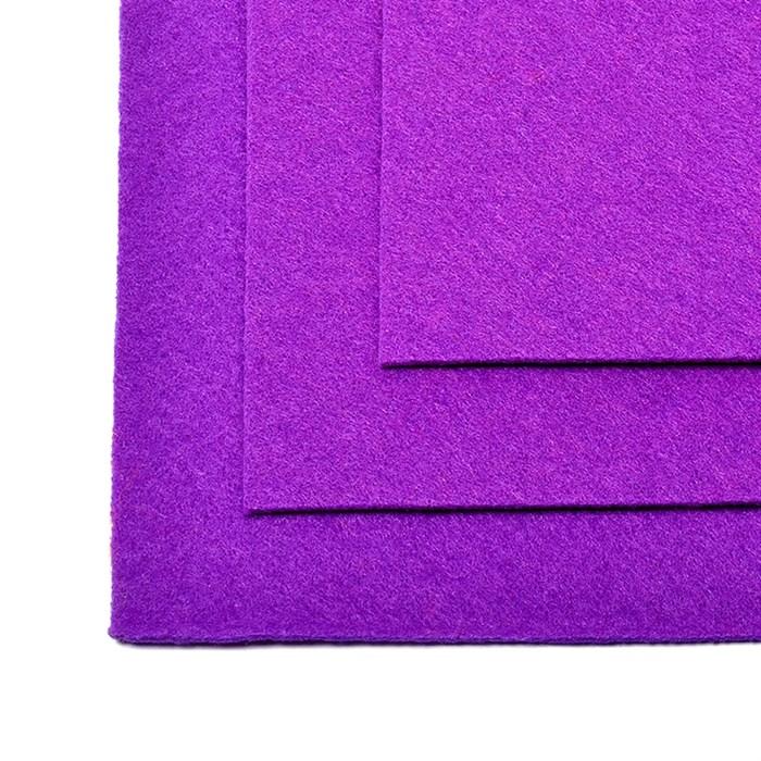 Фетр листовой жесткий IDEAL 1мм 20х30см арт.FLT-H1 уп.10 листов цв.620 фиолетовый - фото 243978