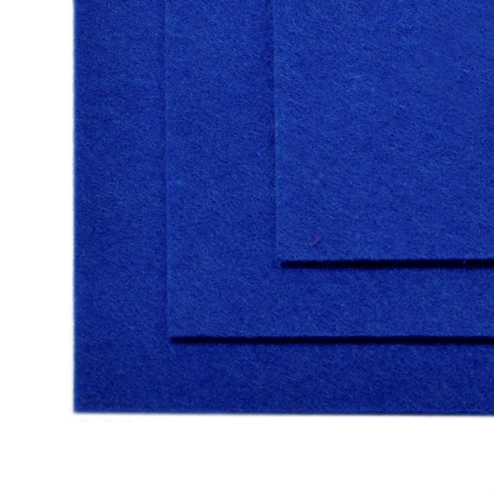 Фетр листовой жесткий IDEAL 1мм 20х30см арт.FLT-H1 уп.10 листов цв.679 синий - фото 243985
