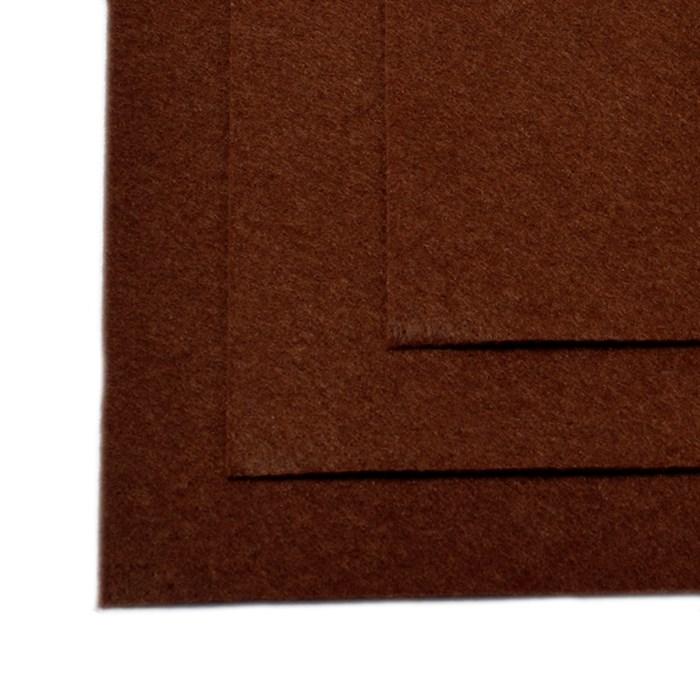 Фетр листовой жесткий IDEAL 1мм 20х30см арт.FLT-H1 уп.10 листов цв.687 коричневый - фото 243989