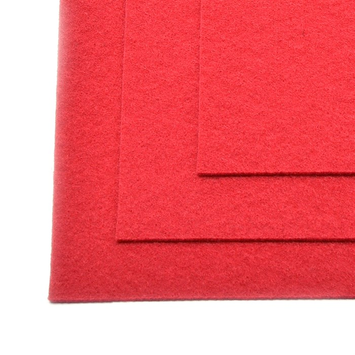 Фетр листовой жесткий IDEAL 1мм 20х30см арт.FLT-H1 уп.10 листов цв.607 т.красный - фото 243994