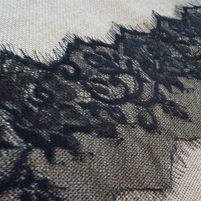 """Кружево """"реснички"""" арт.KRK-7373 шир.105мм цв.черный уп.3м - фото 244870"""
