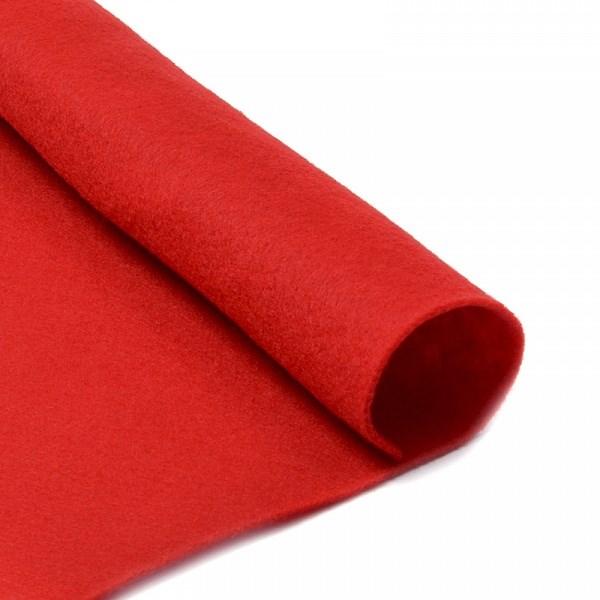 Фетр в рулоне мягкий IDEAL 1мм 100см арт.FLT-S2 цв.601 красный (отрез 1 метр) - фото 245021