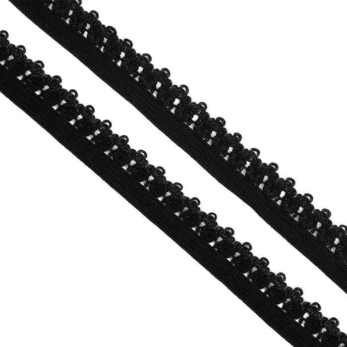 Резинка TBY бельевая 12мм арт.RB01322 цв.F322 черный уп.100м - фото 245362