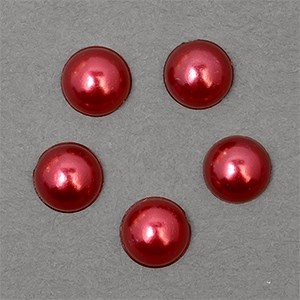 Полужемчужины MAGIC 4 HOBBY перламутр 8 мм цв.H34 (красный) уп.20г - фото 245618