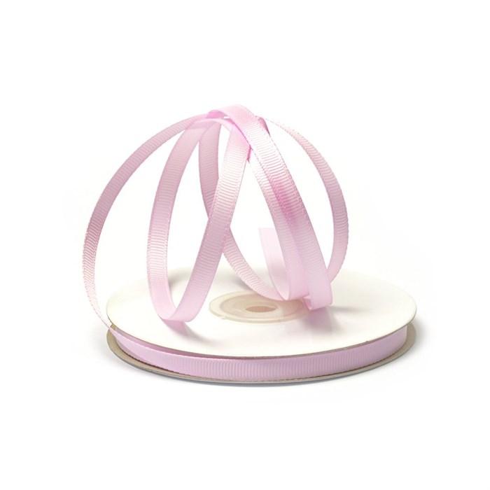 Лента Ideal репсовая в рубчик шир.6мм цв. 148 (034) холод.розовый уп.27,42м - фото 245711