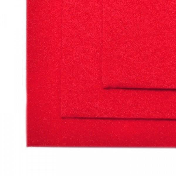 Фетр листовой жесткий IDEAL 1мм 20х30см арт.FLT-H1 уп.10 листов цв.603 красный - фото 245791
