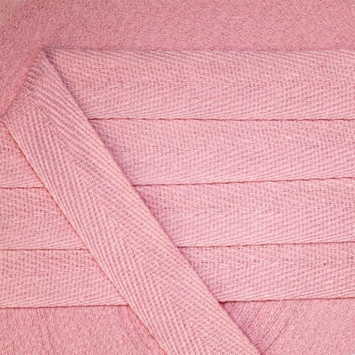 Тесьма киперная 20 мм хлопок 2,5г/см арт.УЛ.549.20 цв.св.розовый уп.50м - фото 246457
