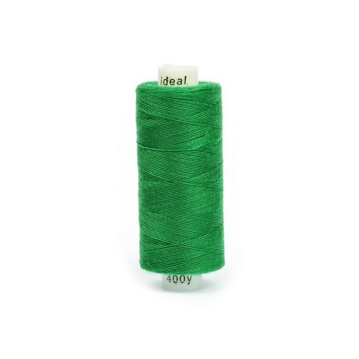 Нитки бытовые IDEAL 40/2 366м 100% п/э, цв.435 зеленый - фото 246793