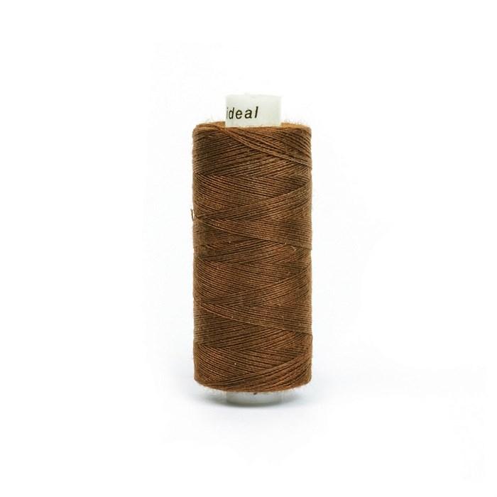 Нитки бытовые IDEAL 40/2 366м 100% п/э, цв.277 коричневый - фото 246845