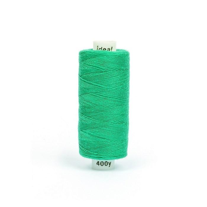 Нитки бытовые IDEAL 40/2 366м 100% п/э, цв.432 зеленый - фото 246889